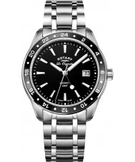 Rotary GB90172-04 Mens ure arv sølv stållænke ur