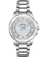 Bulova 96S144 Ladies diamant sølv stållænke ur