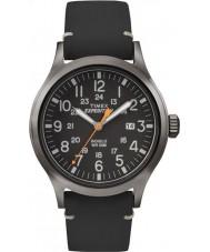 Timex TW4B01900 Mens ekspedition analog forhøjet sort læderrem ur