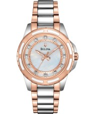 Bulova 98S134 Ladies diamant to tone stållænke ur