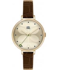 Orla Kiely OK2030 Ladies ivy brun læderrem ur