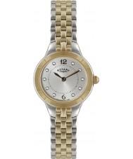 Rotary LB02762-59 Ladies ure sølv og rosa guld ur