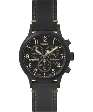 Timex TW4B09100 Mens ekspeditionen sort læderrem ur