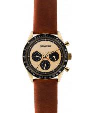 Zadig and Voltaire ZVM116 Master brun læder kronograf ur