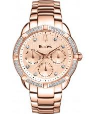 Bulova 98W178 Ladies diamant rosa forgyldt kronograf ur