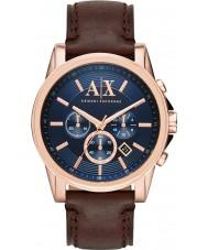 Armani Exchange AX2508 Mens blå mørk brun kronograf kjole ur