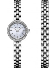 Rotary LB00017-BRS-07S Ladies watch gave sæt