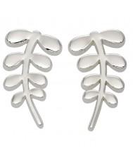 Orla Kiely E5159 Ladies buddy sølv stilk stud øreringe