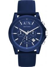 Armani Exchange AX1327 Sport blå silikone kronograf ur