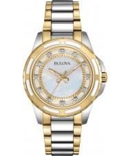 Bulova 98S140 Ladies to tone stållænke ur