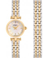 Rotary LB00173-BR-40S Ladies watch gave sæt