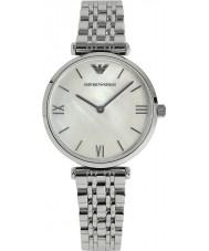 Emporio Armani AR1682 Ladies perle og sølv kjole ur