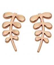Orla Kiely E5158 Kære kammerat 18kt rosa guld stamceller stud øreringe