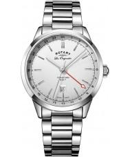 Rotary GB90181-02 Mens les originales tradition sølv stållænke ur