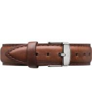 Daniel Wellington DW00200052 Ladies klassiske St Mawes 36mm sølv brunt læder reservedele rem