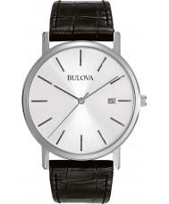 Bulova 96B104 Mens kjole sort læderrem ur