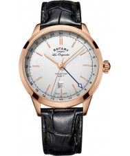 Rotary GS90183-02 Mens les originales tradition sort læderrem ur