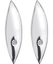 Hot Diamonds DE452 Ladies blad sterling sølv øreringe