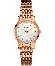 Bulova 97S106 Ladies diamant rosa forgyldt armbånd ur
