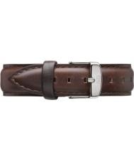 Daniel Wellington DW00200056 Ladies klassiske bristol 36mm sølv brunt læder reservedele rem
