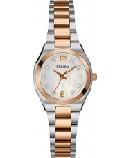 Bulova 98S143 Ladies diamant galleri to tone stållænke ur