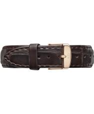 Daniel Wellington DW00200038 Ladies klassiske york 36mm rosa guld mørk brun læder reservedele rem