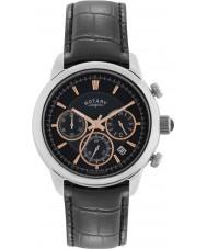 Rotary GS02876-04 Herre ure monaco sort kronograf ur