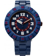 Flik Flak FCSP040 Drenge alvorligt navy blå silikone rem ur