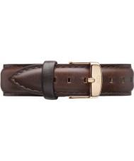 Daniel Wellington DW00200039 Ladies klassiske bristol 36mm rosa guld brun læder reservedele rem