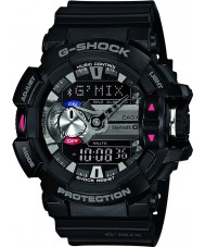 Casio GBA-400-1AER Mens g-shock sort bluetooth combi ur