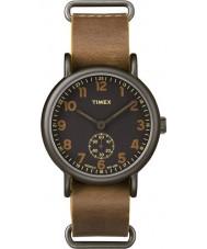 Timex TW2P86800 Mens weekender tan læderrem ur