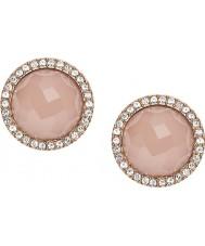 Fossil JF02498791 Ladies rosa guld stål stud øreringe
