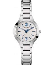Bulova 96L215 Ladies kjole sølv tone ur