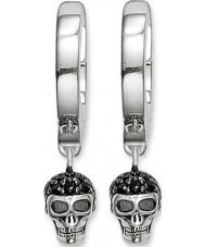 Thomas Sabo CR573-051-11 Ladies sølv kraniet hængslet hoop øreringe