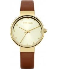 Karen Millen KM131TG Ladies brun læderrem ur