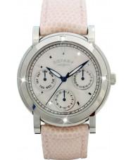 Rotary RLS00024-07-W Dame ure hvid læderrem kronograf ur
