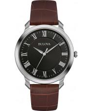 Bulova 96A184 Mens kjole brun læderrem ur