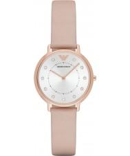Emporio Armani AR2510 Ladies kjole lys brun læderrem ur