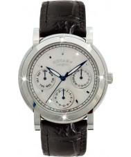 Rotary RLS00024-07-BLK Dame ure sort læderrem kronograf ur