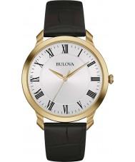 Bulova 97A123 Mens kjole sort læderrem ur