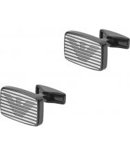 Emporio Armani EGS2179060 Mens signatur to manchetknapper tone stål