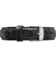 Daniel Wellington DW00200133 Dapper 17mm læsning sølv reservedele rem