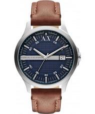 Armani Exchange AX2133 MENS brun læderrem kjole ur