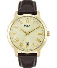 Rotary GS02462-03 Mens ure Sloane brun læderrem ur
