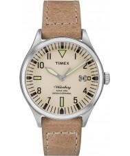 Timex TW2P84500 Mens waterbury midten størrelse tan læderrem ur