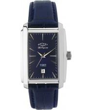Rotary LE90012-05 Mens les originales sølv blå automatisk ur