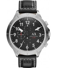 Armani Exchange AX1754 Mens Black læderrem kronograf sportsur
