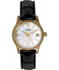 Rotary LS02368-41 Ladies ure øko kjole forgyldt ur