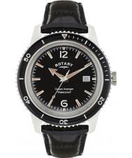 Rotary GS02694-04 Mens ure ocean hævner sort læderrem ur