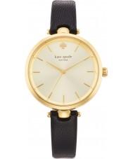 Kate Spade New York 1YRU0811 Ladies holland sort læderrem ur
